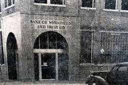 Bank of Winnfield - 1951 front bank photo